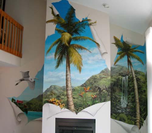 الرسم الجدران
